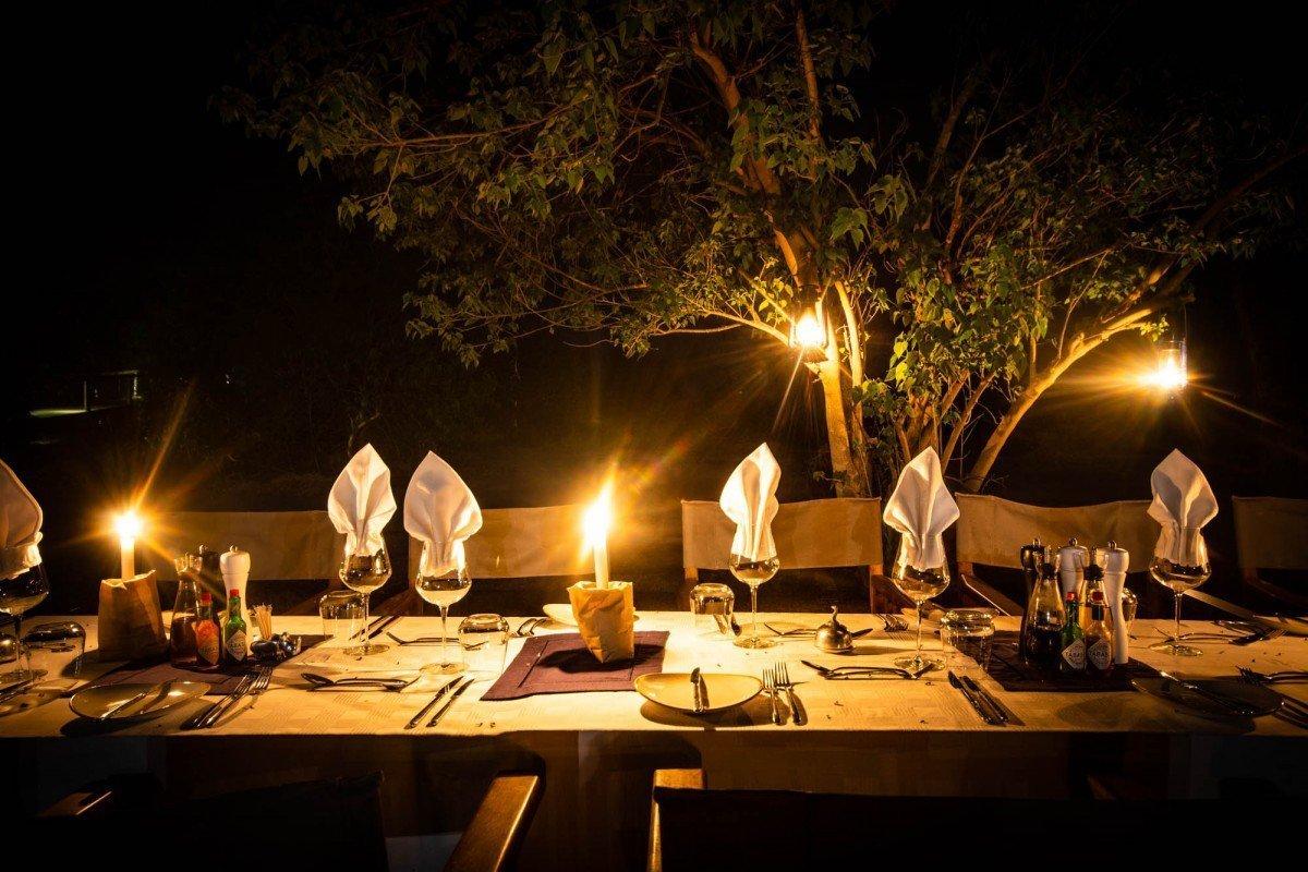 Dinner at Mma Dinare Camp