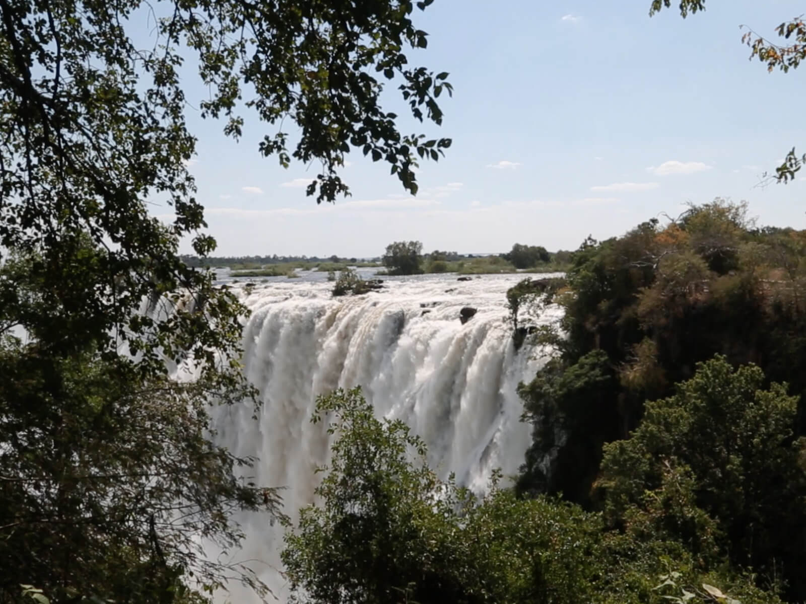 Panoramic of Victoria Falls from Zambian side
