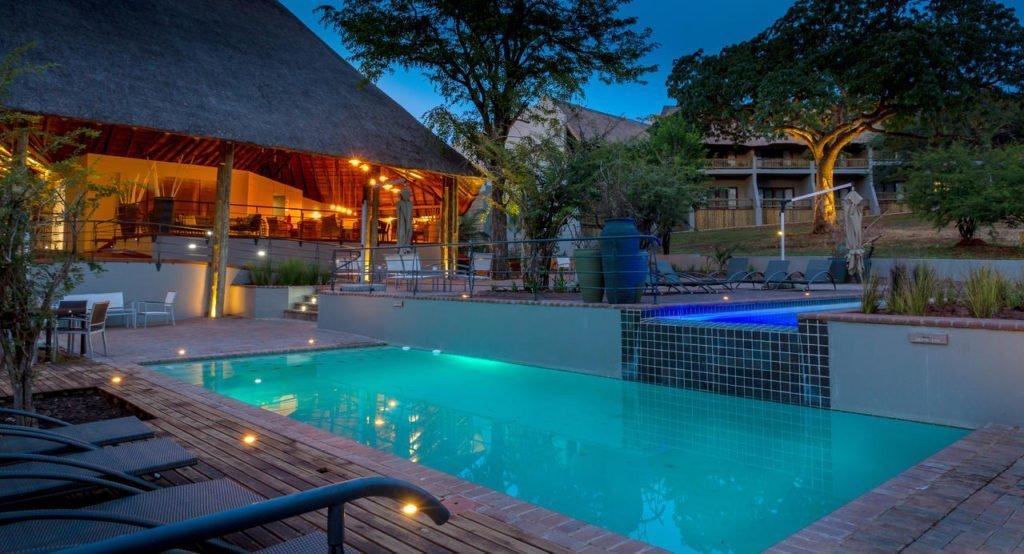 Swimming pool at the Chobe Bush Lodge