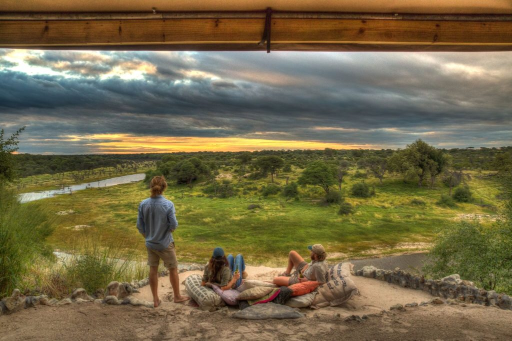 View over the Boteti River from Meno a Kwena Lodge