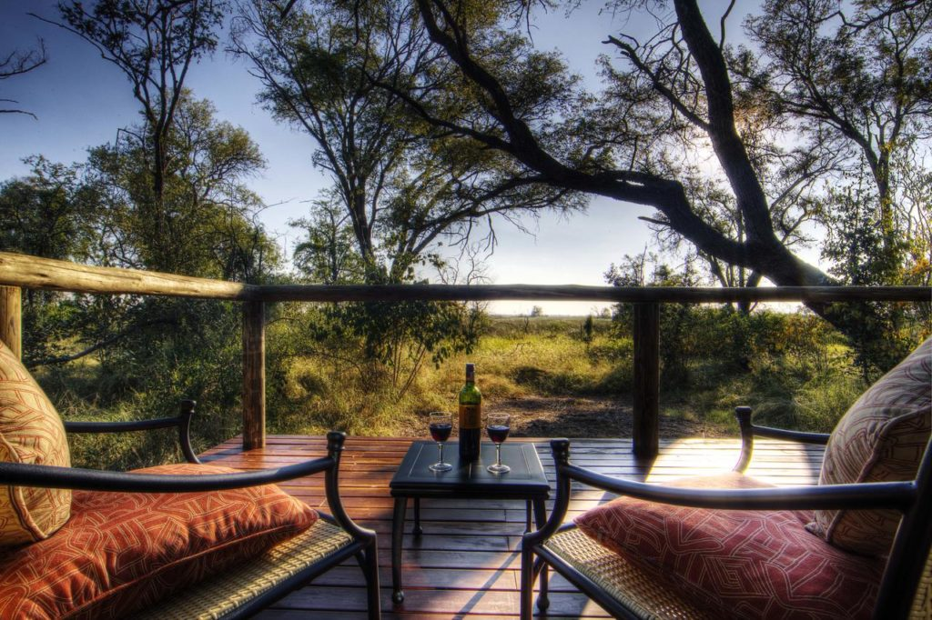 Deck with a view at Camp Moremi