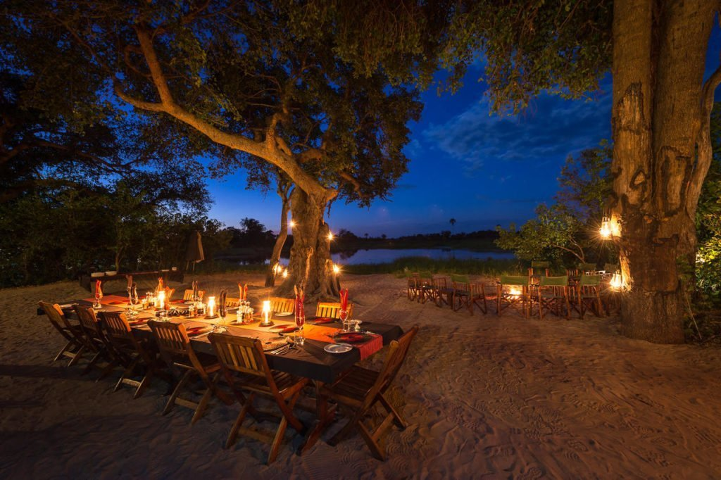Evening dining at Seba Camp