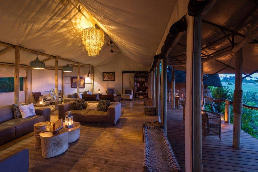 Lounge area at Tubu Tree Lodge