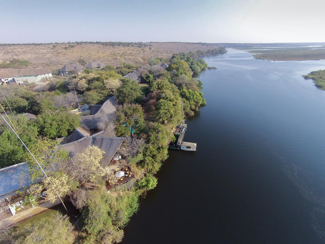Aerial of the Chobe Safari Lodge