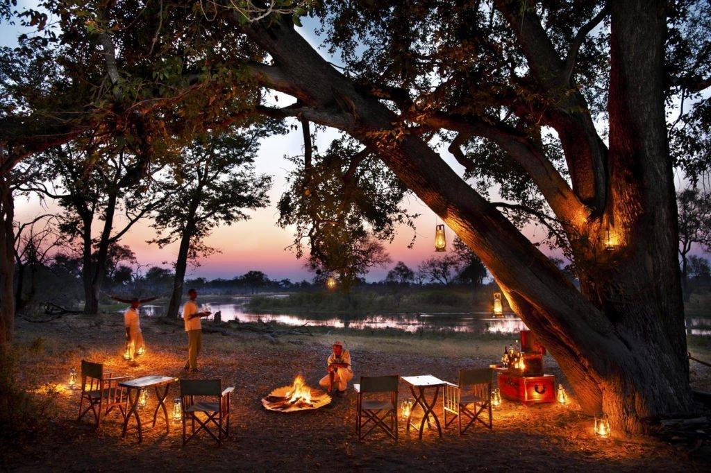 Sunset at Selinda Explorers Camp