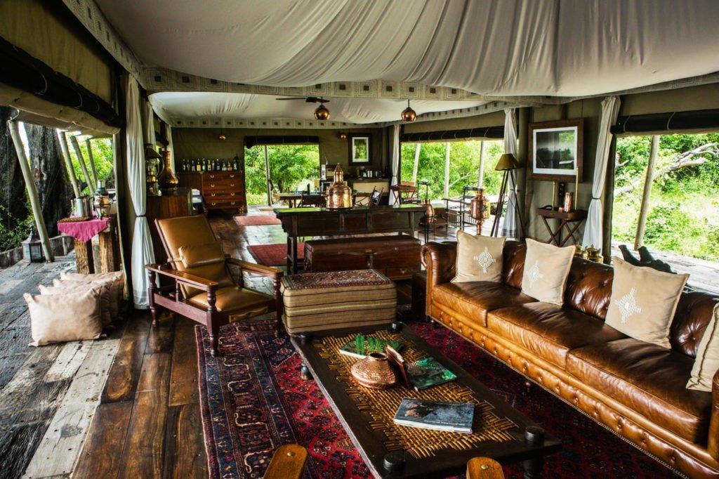Lounge area at Zarafa Camp
