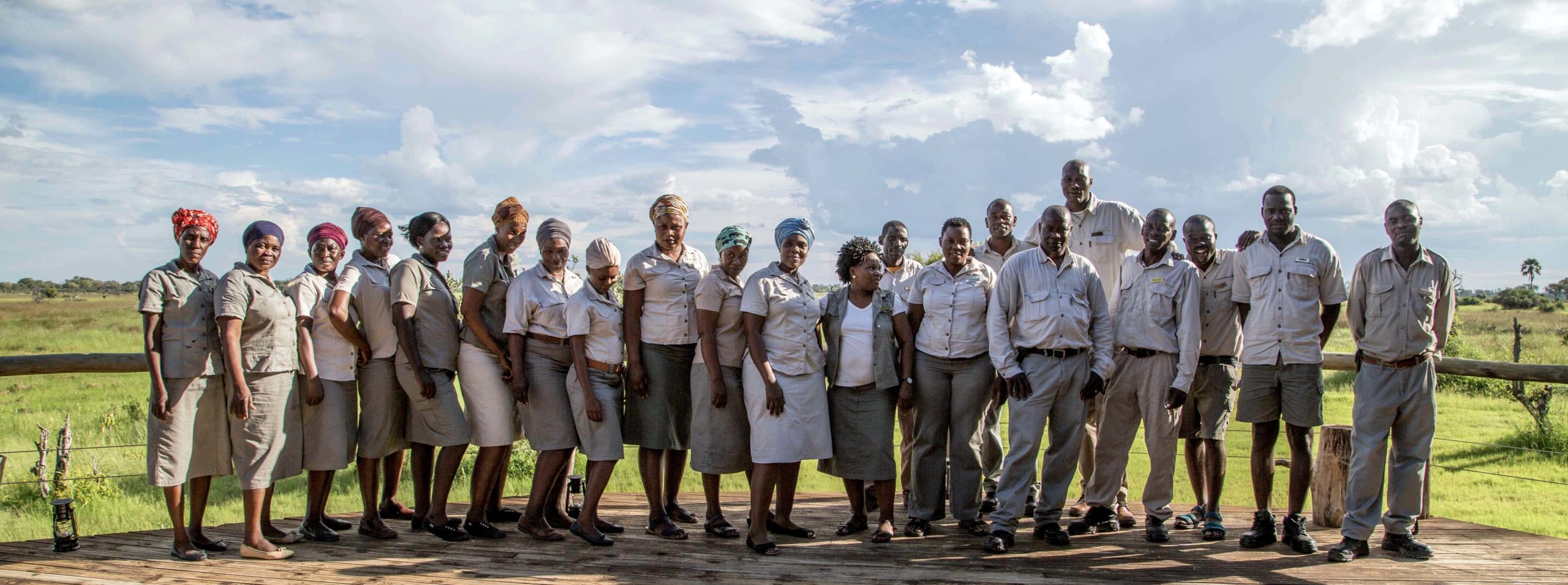 Panoramic of the Okavango team